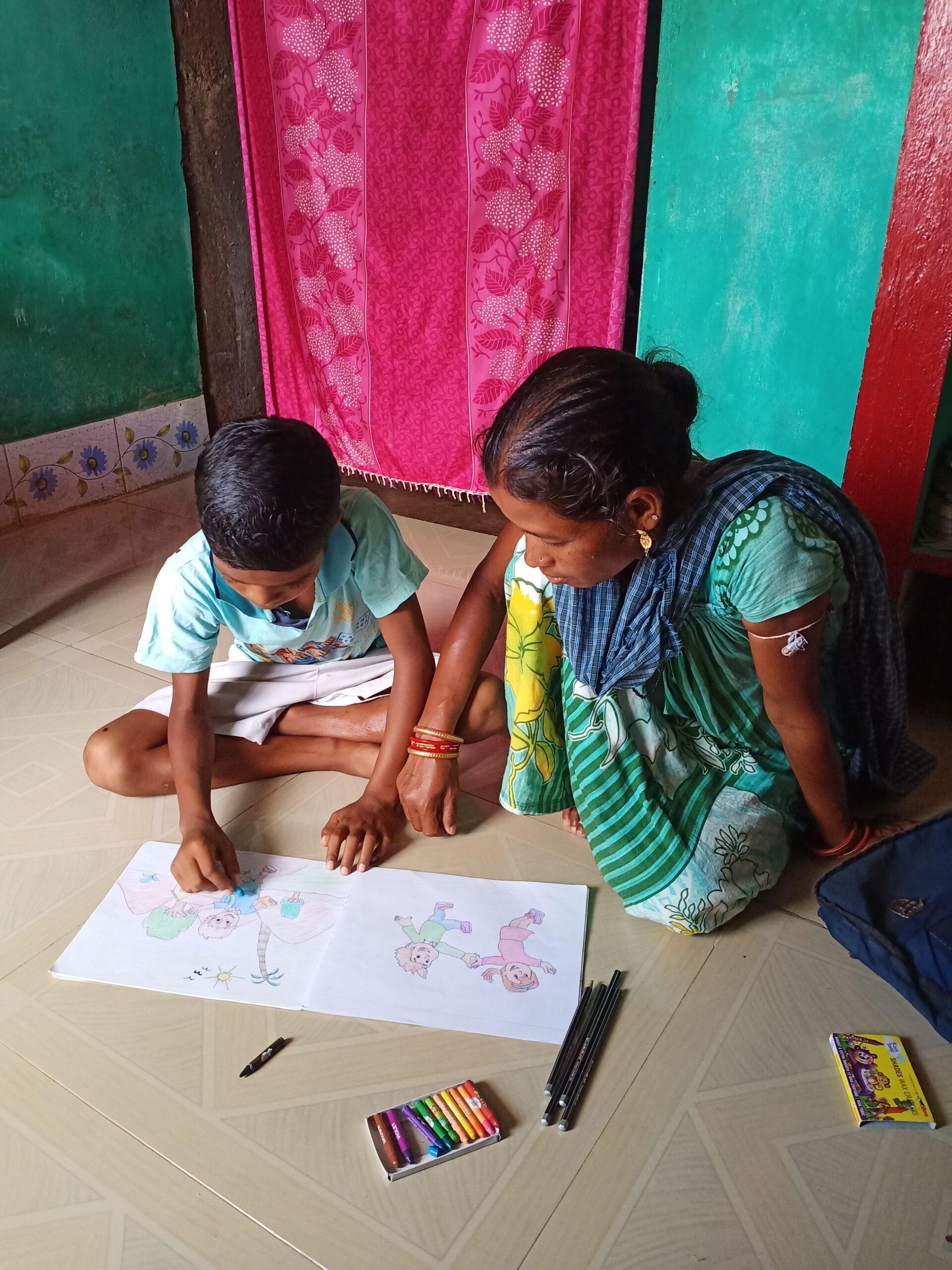 corona noodhulp helpt Amit uit India