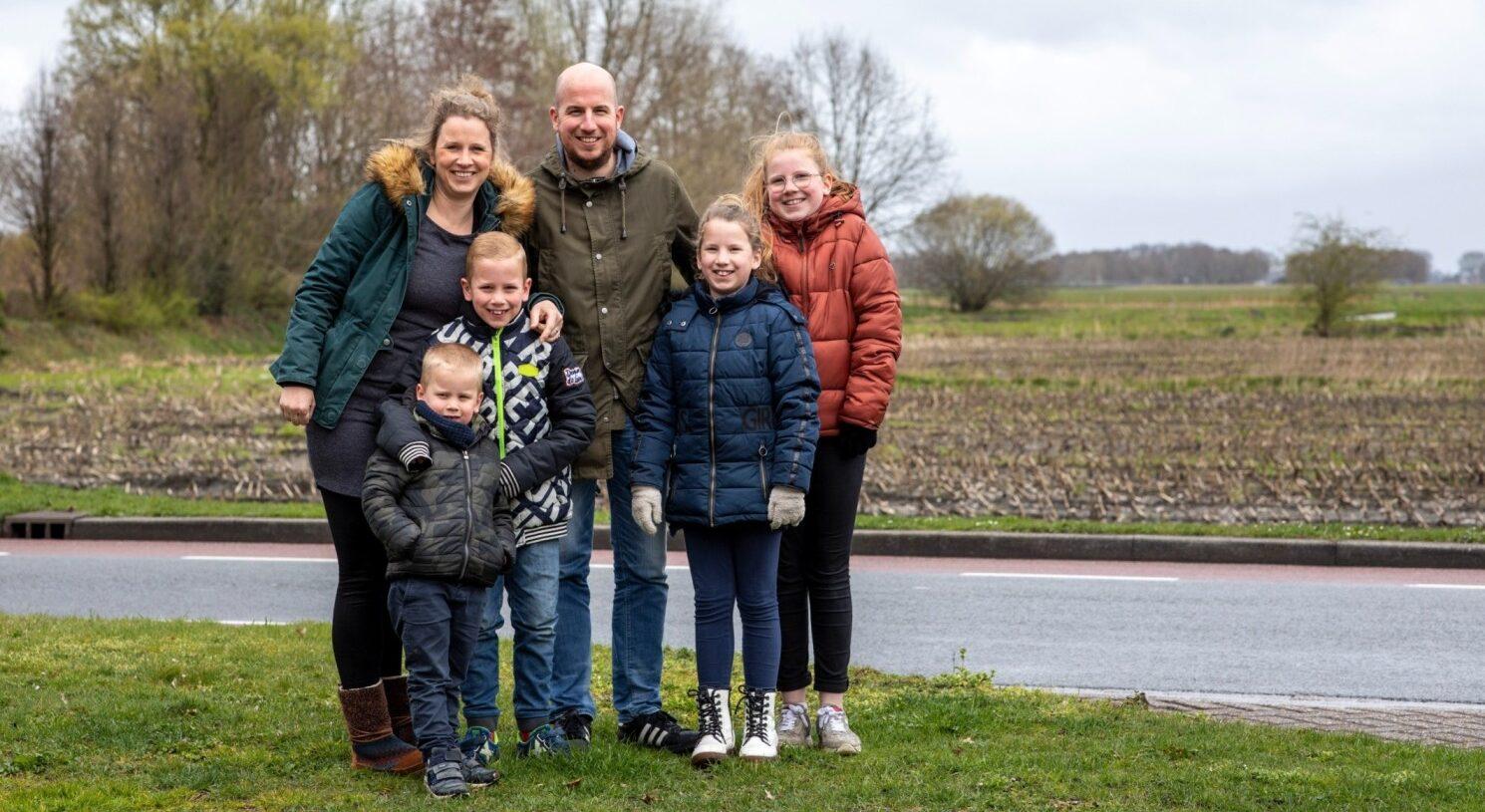Lars Gerfen met zijn gezin